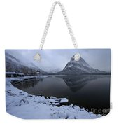 First Snow At Grinnell Weekender Tote Bag