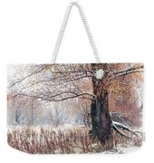 First Snow. Old Tree Weekender Tote Bag