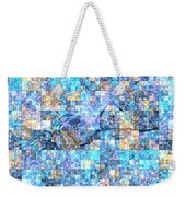 First Time Geometric Blue Weekender Tote Bag