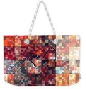 First Time Geometric Red Weekender Tote Bag