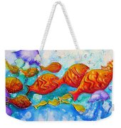 Fish Abstract Painting Weekender Tote Bag