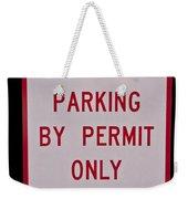 Fisherman Parking Sign Weekender Tote Bag