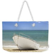 Fishing Boat On The Beach Weekender Tote Bag