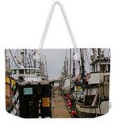 Fishing Boat Walkway Weekender Tote Bag