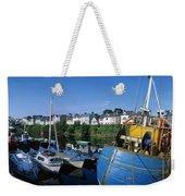 Fishing Boats At A Harbor, Roundstone Weekender Tote Bag