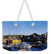 Fishing Boats At A Harbor, Slade Weekender Tote Bag