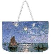 Fishing Boats By Moonlight Weekender Tote Bag