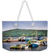 Fishing Boats In Newfoundland Weekender Tote Bag
