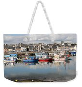 Fishing Boats In The Harbor Weekender Tote Bag