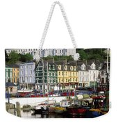 Fishing Boats Moored At A Harbor, Cobh Weekender Tote Bag