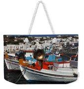 Fishing Boats Mykonos Weekender Tote Bag