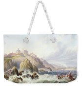 Fishing Boats Off Scotland Weekender Tote Bag