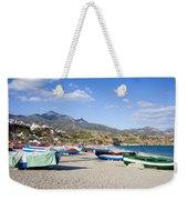 Fishing Boats On A Beach In Spain Weekender Tote Bag