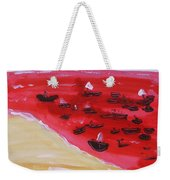 Fishing Boats On A Red Sea Weekender Tote Bag
