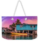 Fishing Camp Twilight Weekender Tote Bag