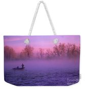 Fishing On The Bow Weekender Tote Bag by Bob Christopher
