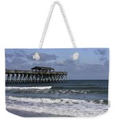 Fishing On The Pier Weekender Tote Bag