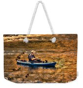 Fishing The Golden Hour Weekender Tote Bag