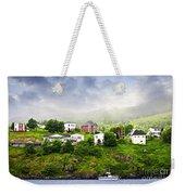 Fishing Village In Newfoundland Weekender Tote Bag by Elena Elisseeva