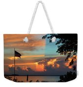 Fitting Sunset Weekender Tote Bag