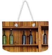 Five Bottles Weekender Tote Bag by Carlos Caetano