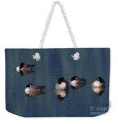 Five Geese Napping Weekender Tote Bag