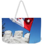 Flag On A Hockey Stick Weekender Tote Bag
