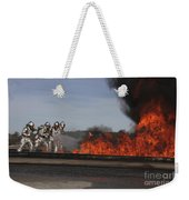 Flames Billow Out Of The Burn Pit Weekender Tote Bag