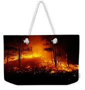 Flames From A Forest Fire Light Weekender Tote Bag