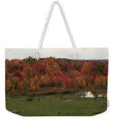 Flaming Foliage Autumn Pasture Weekender Tote Bag