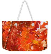 Flaming Maples Weekender Tote Bag