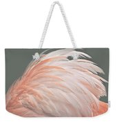 Flamingo Feather Details Weekender Tote Bag