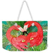 Flamingo Mask 7 Weekender Tote Bag