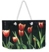 Flared Red Yellow Tulips Weekender Tote Bag