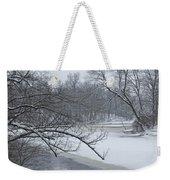 Flat River In Winter No.026 Weekender Tote Bag