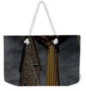 Flatiron Building And Clock Weekender Tote Bag