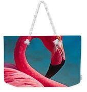 Flexible Flamingo Weekender Tote Bag