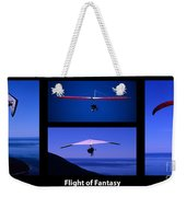Flight Of Fantasy With Caption Weekender Tote Bag