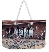 Flight Of Pigeons Inside The Jama Masjid In Delhi Weekender Tote Bag