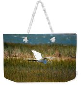 Flight Of The Egret Weekender Tote Bag