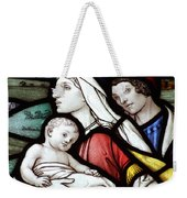 Flight To Egypt Stained Glass Weekender Tote Bag