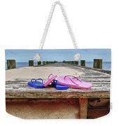 Flip Flops On The Dock Weekender Tote Bag