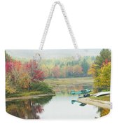Float Plane On Pond Near Golden Road Maine Photo Poster Print Weekender Tote Bag