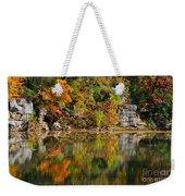 Floating Leaves In Tranquility Weekender Tote Bag