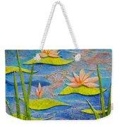 Floating Lilies Weekender Tote Bag