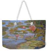 Floating Lillies Weekender Tote Bag by Mohamed Hirji