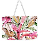 Floral Fourteen Weekender Tote Bag