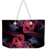 Floral Rose Edgy Abstract Weekender Tote Bag