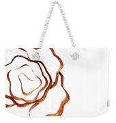 Floral Rust Weekender Tote Bag