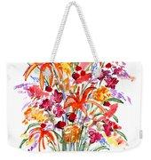 Floral Six Weekender Tote Bag